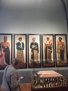 Five Javanese court officials, anoniem, c. 1820 - c. 1870