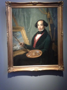 Portrait of Raden Syarif Bustaman Saleh attributed to Friedrich Carl Albert Schreuel, c. 1840